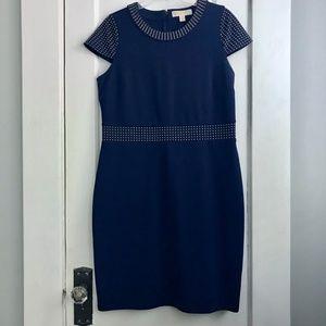 NWOT MICHAELMichael Kors Navy Ponte Dress | Size L